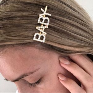 Gold sparkle word clips